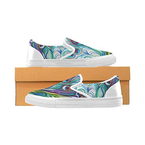 Unieke Debora Pas De Sneakers Van Modewomens Aan Ongebruikelijke Instappers Van Het Loafers Instappers Canvas Multicoloured47
