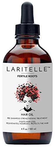 Laritelle Organic Hair Loss Treatment for Men/Women, Fortifying, Strengthening and Rejuvenating Follicle Fuel, Stops Shedding, Promotes New Growth, 4 oz. ()