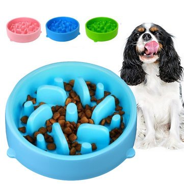 Slow Feeder Bowl - Dog Feeder Bowl - Pet Dog Cat Slow Eating Bowl Bloat Puzzle Healthy Feeder Interactive Fun Jungle - Green ( Pet Feeder Bowl -