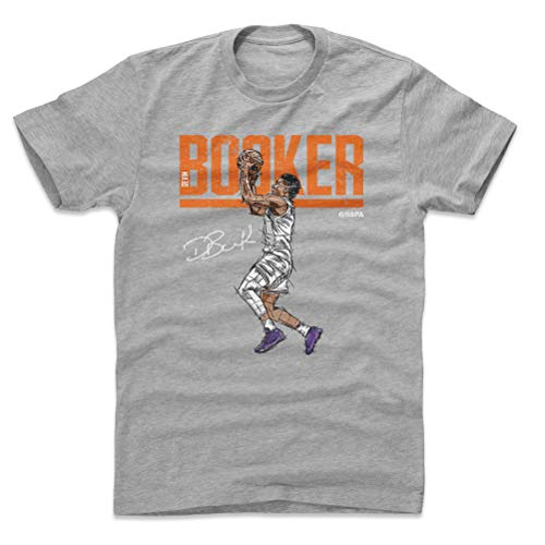 500 LEVEL Devin Booker Cotton Shirt XX-Large Heather Gray - Vintage Phoenix Basketball Men's Apparel - Devin Booker Hyper O WHT -
