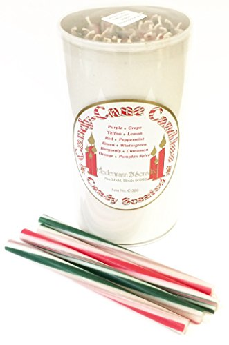 Biedermann & Sons Candy Cane Striped Taper Candles ()