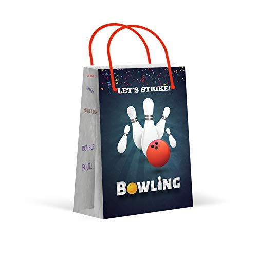 Bowling Party Favors (Premium Bowling Party Bags, Party Favor Bags, New, Treat Bags, Gift Bags, Goody Bags, Party Favors, Party Supplies, Decorations, 12)