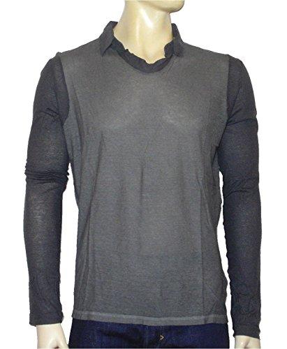 "DIESEL ""Black Gold"" Herren langarm POLO Shirt ""T-Torichichi"" grau"