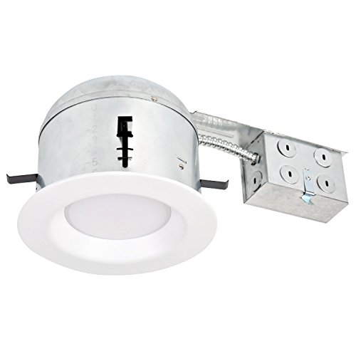 Hykolity 6 Inch White LED Remodel Recessed Lighting Kits, IC Rated Remodel Housing and Dimmable LED Downlight Wet Rated 15W 1100lm 5000K Daylight White ETL Listed - Pack of 4 by hykolity (Image #3)