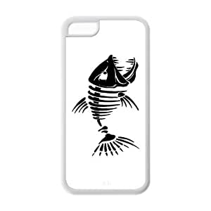 Custom Fishbone Unique Iphone 5C Rubber TPU cover