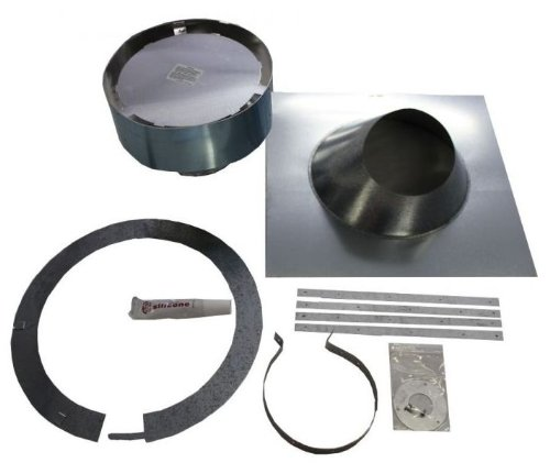 (Vertical Vent Termination Kit with 6/12-12/12 Flashing | Majestic 4