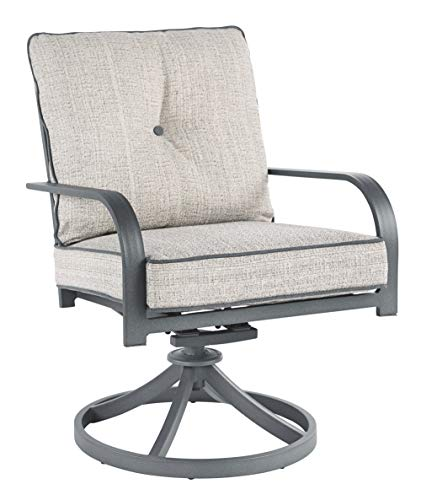 Signature Design by Ashley P325-601A Donnalee Bay Swivel Lounge Chair (2/CN), Dark Gray (Furniture Summer Patio Cottage)