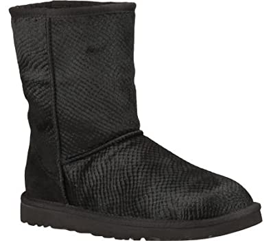 UGG Women's Classic Short Calf Hair Scales,Black,US ...