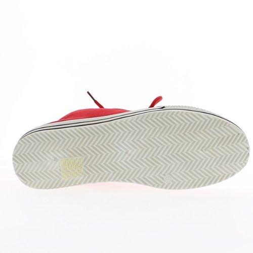 épaisse 4 femme 5cm à toile Baskets rouges semelle de X70dq