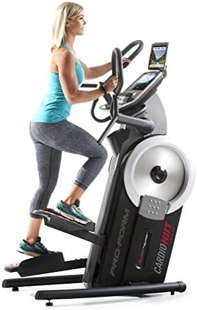 Proform-Ellipticals und Crosstraine- Cardio Hiit Trainer. 24 digitale Widerstands-Level,32 Workouts, Hochintensitätsintervalltraining ,iFit-kompatibel,13kg-Schwungrad - PFEVEL71216