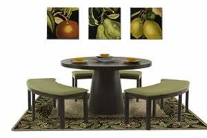 Amazon.com - Diamond Sofa 53-Inch Round Dining Table with ...