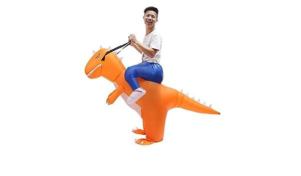 LIYOU Disfraz Hinchable de Halloween para Adultos T-Rex de ...