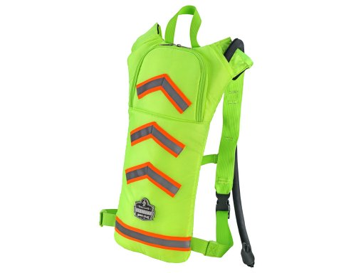 Ergodyne Chill-Its 5155HV 2-Liter Hi-Vis Low Profile Hydration Pack, Lime