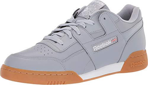 Freedom Synthetic Leather - Reebok Men's Workout Plus MU Cool Shadow/White/Gum 8 D US
