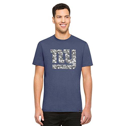 NFL New York Giants Men's '47 Crosstown Flanker Tee, Bleacher Blue-Logo, - Giant Logo Tee
