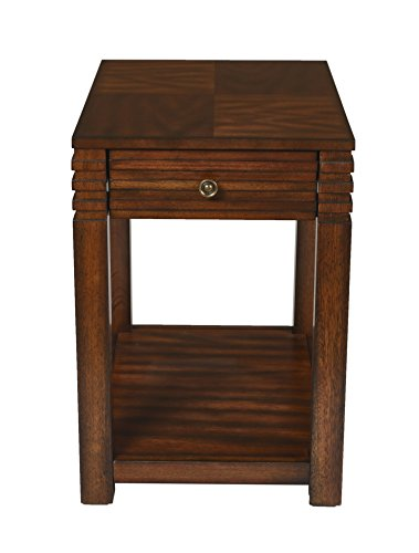 - New Classic Parquet Burnished Walnut Chair Side Table