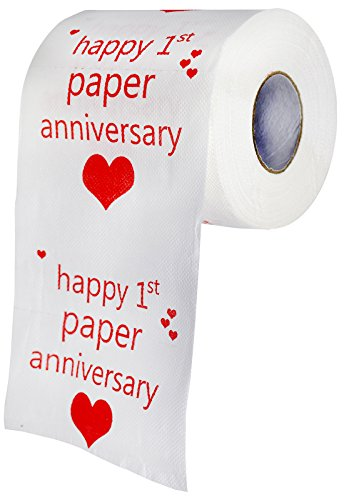 Happy First Anniversary Toilet Paper - Paper Anniversary