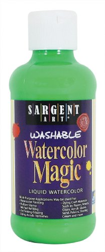 - Sargent Art 22-7066 8-Ounce Watercolor Magic, Fluorescent Green