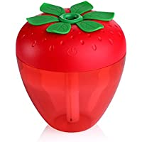 Tuscom Strawberry Home Aroma LED Humidifier Air Diffuser Purifier Atomizer (Red)