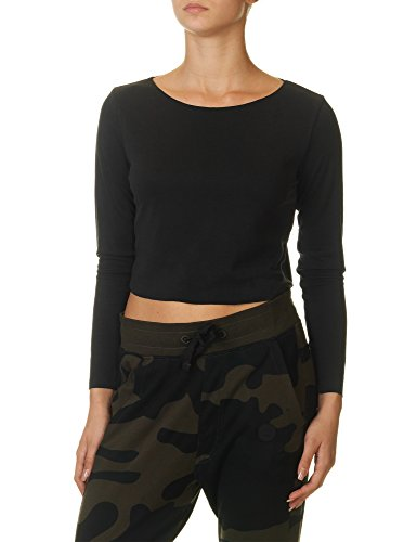 Tag Modest Clothing Women's Chopp Women's Black Crop Top Black
