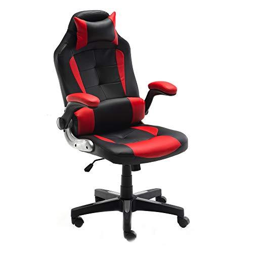 ALEKO ALC6128RDBK Ergonomic Reclining High-Back Office/Gaming Chair