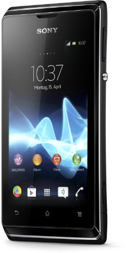 Sony Xperia E Smartphone (8,9 cm (3,5 Zoll) Touchscreen, Qualcomm, 1GHz, 512MB RAM, 4GB HDD, 3,2 Megapixel Kamera, Android 4.1) schwarz