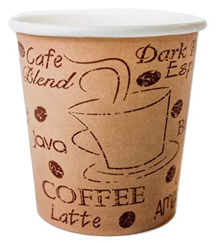 Coffee Cups - 4 Ounce - Café Design to Go Hot Cup - The Perfect Gift for the Espresso Lover in Your Life - 200 count ()