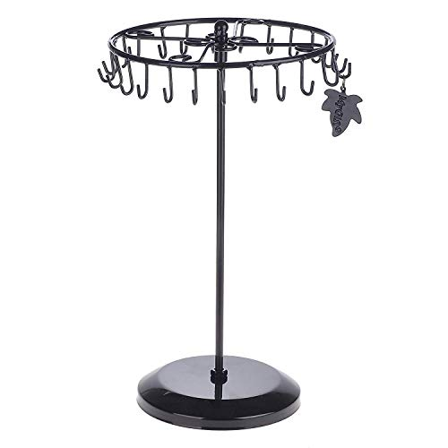 Rotating Necklace Holder Bracelet Stand / Jewelry Organizer / Jewelry Tree Jewrly Unstable Hooks Large Nrcklace Tower Ball 12 Copper Tre 15 Hanging Neckless Jelwery Leaflet Nexklace Jewery Treestand
