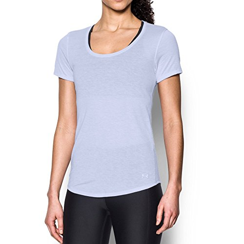 Under Armour Women's Streaker Short Sleeve Top, Lavender Ice/Reflective, Large