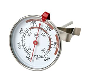Taylor 5* Commercial Candy/Deep Fry Thermometer - Dial