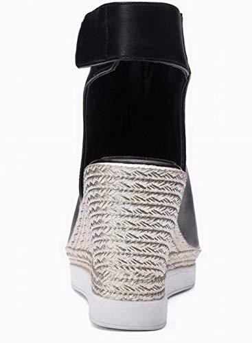 Velcro Cuir Femme Agoolar Pu Tricotage 7wfqS70I1
