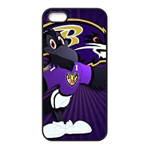 iPhone 5 5s Black Cell Phone Case Baltimore Ravens NFL Phone Case Cover For Boys Hard NLYSJHA2508