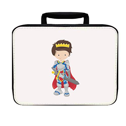 Fairy Tale Prince Cape Brown Nylon Insulated Lunch Box Food Bag
