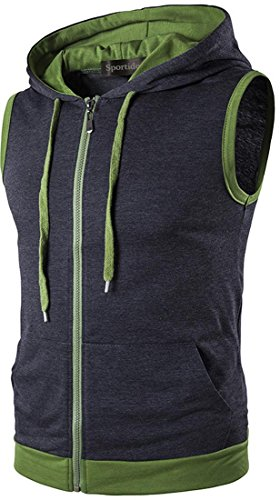 Dress Vest Sweatshirt Fashion Casual Shirts Top Hommes Jza002 Jza159 Sportides darkgray Sleevesless Hoodie q6044w
