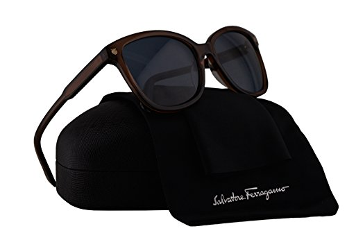 Salvatore Ferragamo SF815S Sunglasses Crystal Brown w/Blue Lens 210 SF - Salvatore Sunglasses Ferragamo
