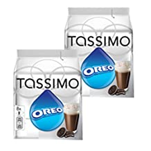 Tassimo Oreo Cacao, Hot Chocolate, Drinking Chocolate with Cookie Taste, 2-Pack, 32 T-Discs (16 Servings)