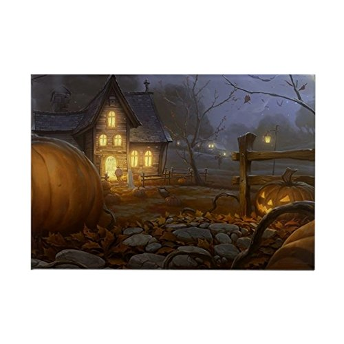 CafePress Haunted Halloween Village Rectangle Magnet, 2