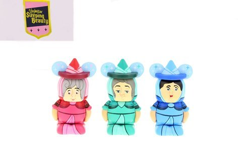 Sleeping Beauty Series Flora, Fauna, and Merryweather Fairies Disney Vinylmation 1 1/2'' Jr. Figure CUTE