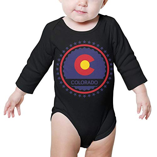 Three In Colorado Day C Long Sleeves Onesie for Babies and Toddlers Infant Onesies for Baby Boys&Girls