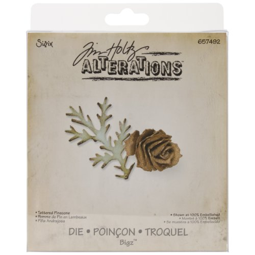 (Sizzix 657492 Bigz Die Tattered Pinecone by Tim Holtz,)