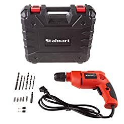 Stalwart Electric Power Drill with 6-Foo...