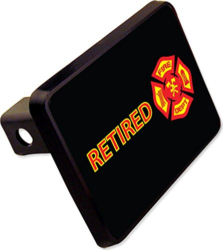 (RETIRED FIRE DEPT Trailer Hitch Cover Plug Funny Novelty)