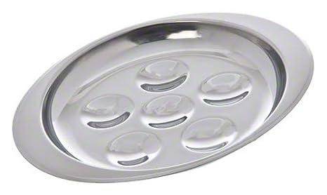 Actualizar International SN-PL6 6 Agujero Acero inoxidable Caracol Plate: Amazon.es: Hogar
