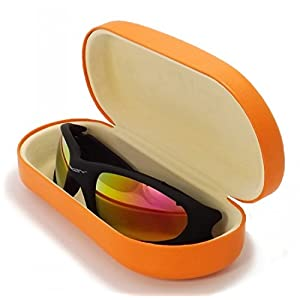 Hard Clamshell Eyeglass & Sunglasses Cases - 3 Piece Sets For Men & Women - O'Meye Case, Pouch, Premium-Lens Microfiber Cleaning Cloth, 100% Satisfaction Guarantee!