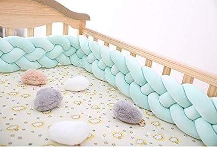 Vert Tour de lit tress/é pour b/éb/é Milopon 2m 4 tissages 2 M//2,5 M//3 m