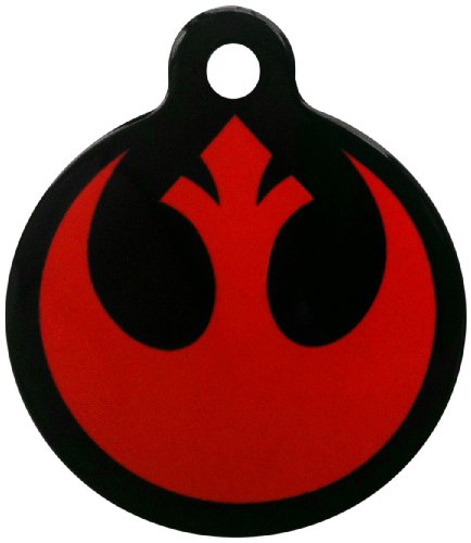 Platinum Pets Star Wars 1.25-Inch Smartphone Pet ID Tag with GPS, Rebel Alliance Logo Design, My Pet Supplies