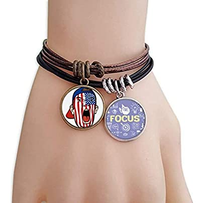 master DIY USA Flag Facial Painting Makeup Cap Bracelet Rope Wristband Force Handcrafted Jewelry Estimated Price -
