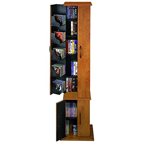 Venture Horizon Media Storage Tower- Cherry (Cd Drawer Storage 15 Dvd)