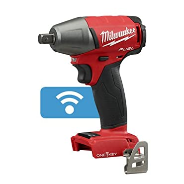 Milwaukee 2759-20 M18 FUEL 1/2 Compact Impact Wrench w/Pin Detent; Torque = 220 ft-lbs ; with ONE-KEY- 4 Mode (Bare Tool)