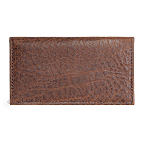 Hunter Allen Textured Bison Leather Checkbook Cover - Tuscan
